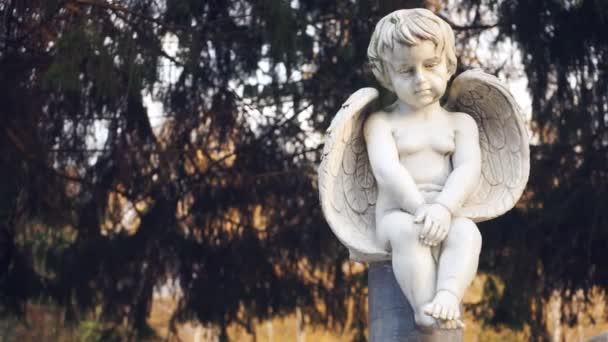 Andělíček s smutný pohled