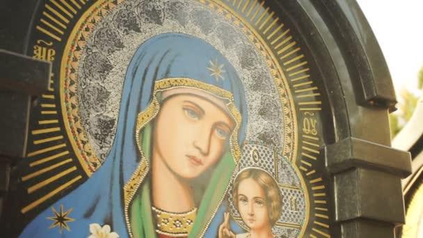 Ikone der Mutter Gottes in Nahaufnahme