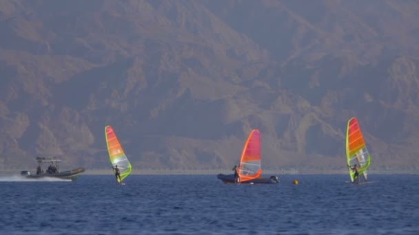Summer wind surfing lessons with an instructor