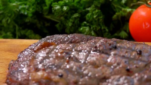 Panorama z hotových šťavnatý steak