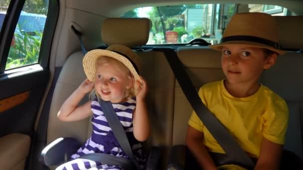 Children travel by car.