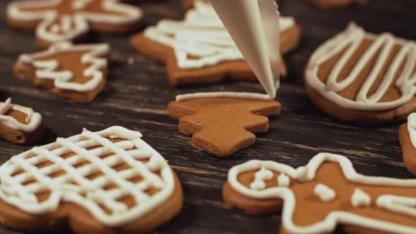 Detail zdobení perník vánoční strom zdobení vánočního cukroví.