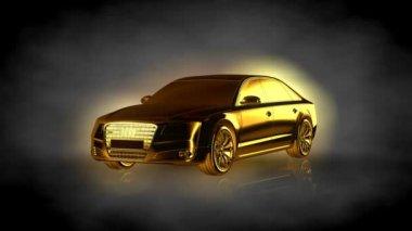 rendu une animation boucle une voiture dore intrieur une installation