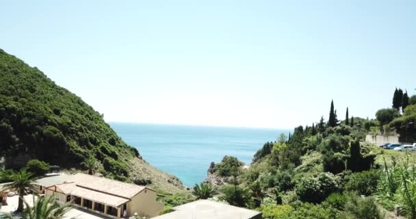 Korfu, Griechenland-Wasser-Luftbild auf der Insel von einer Drohne