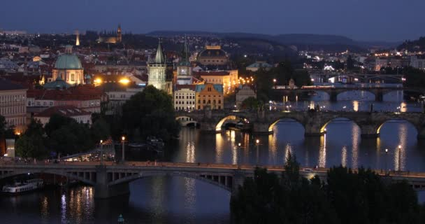 Charles Bridge, Prague, Czech Republic. Charles Bridge (Karluv Most) and Old Town Tower at sunset.