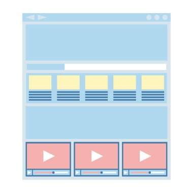 Flat website template, web design technology