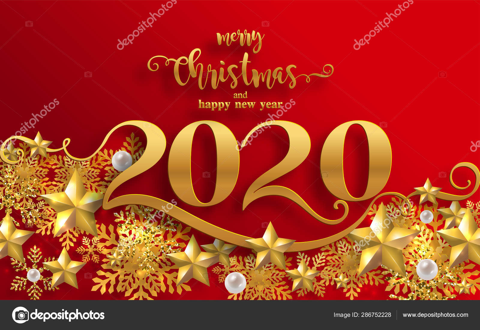 Merry Christmas Greetings Happy New Year 2020 Templates ...