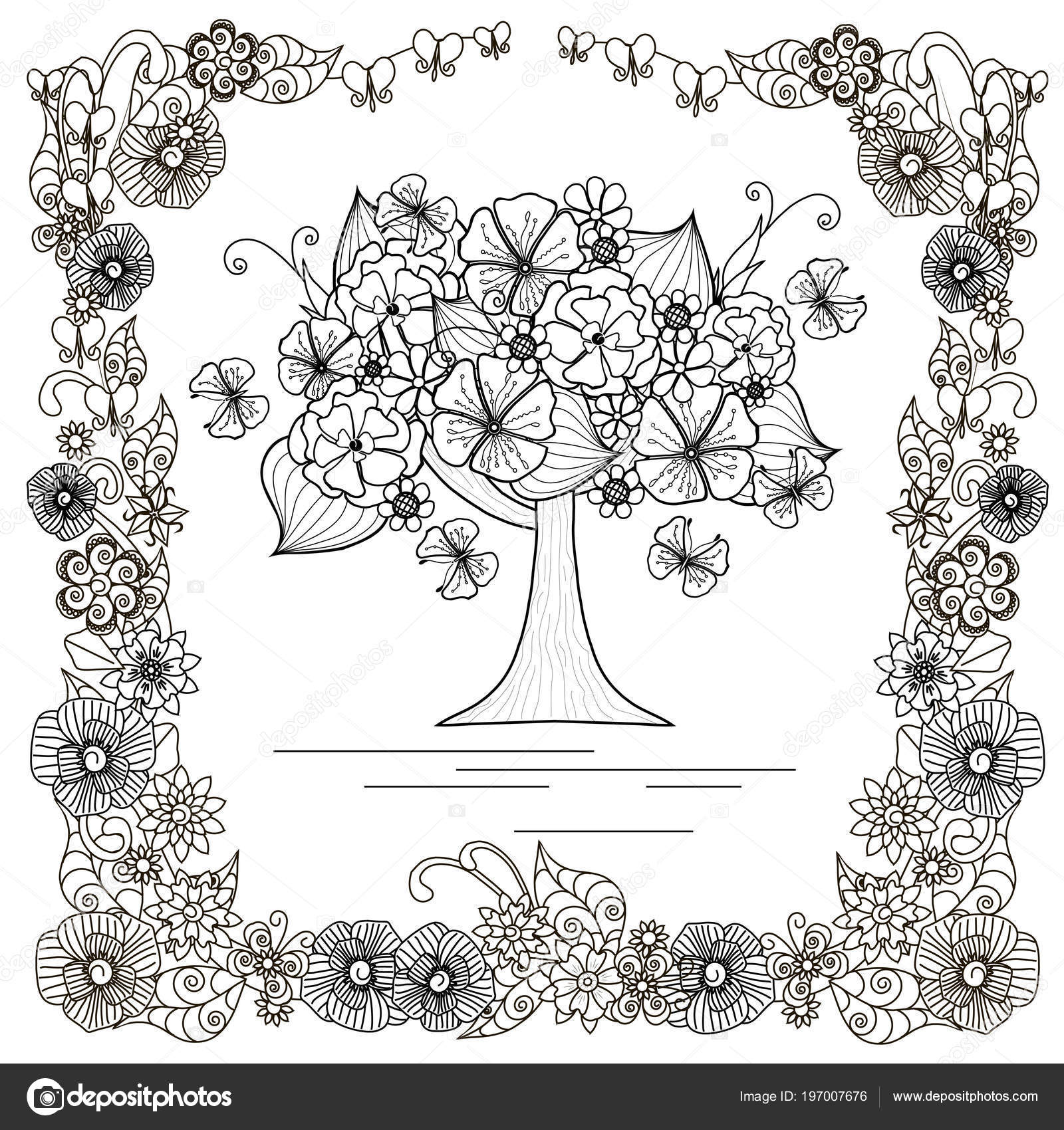 Kelebek Boyama Kitabı Stres Hisse Senedi Vektör çizim Için Web