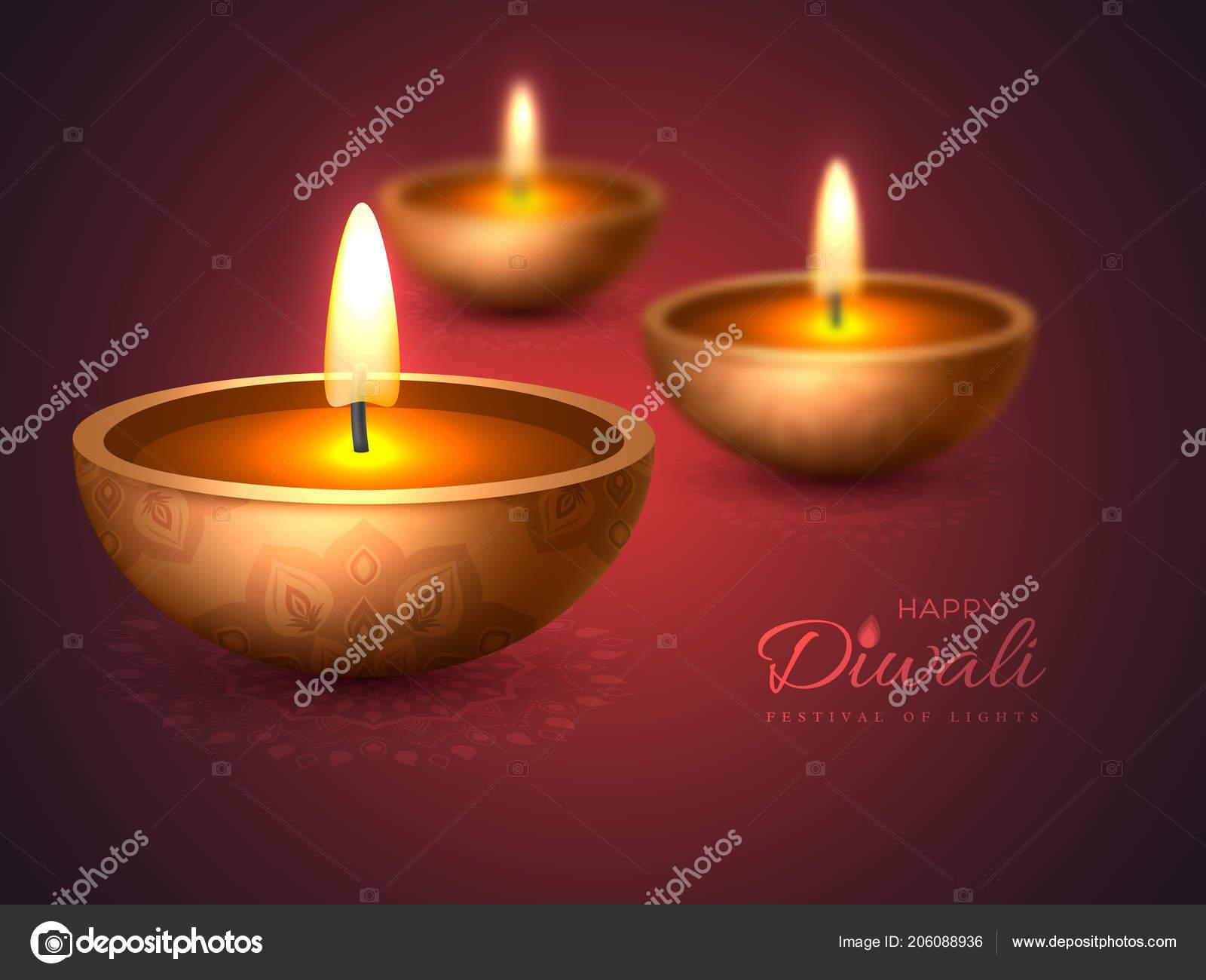 Diwali Diya Lampe Huile Creation Vacances Pour Traditionnelle Fete