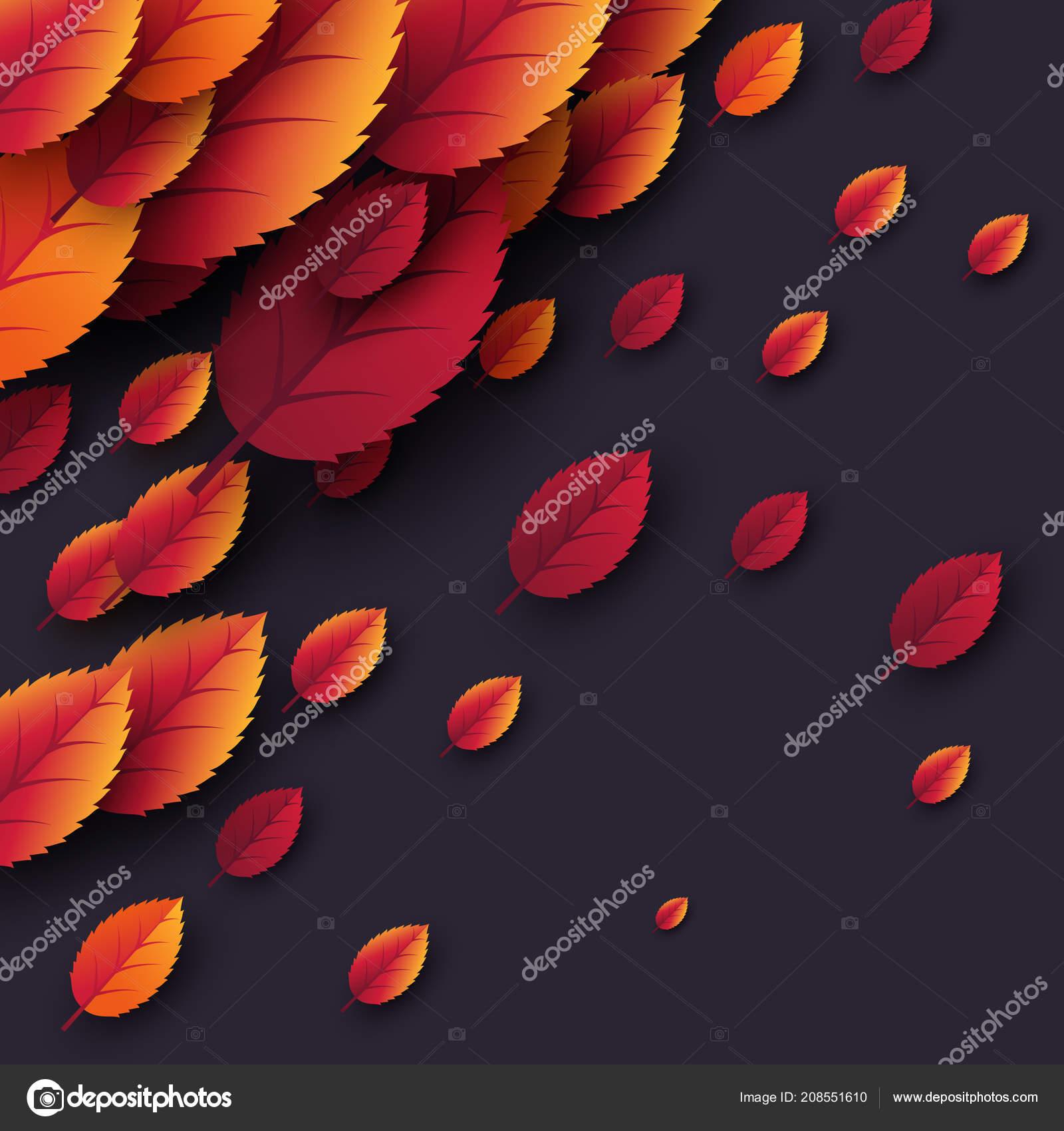 Dark Fall Wallpaper 3d Realistic Autumn Fall Leaves
