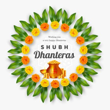 Shubh Dhanteras holiday composition.