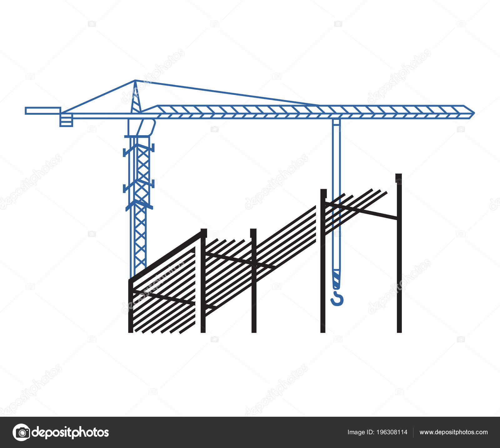 tower crane works background construction background crane Mobile Crane Diagram tower crane works background construction background crane construction site \u2014 stock vector