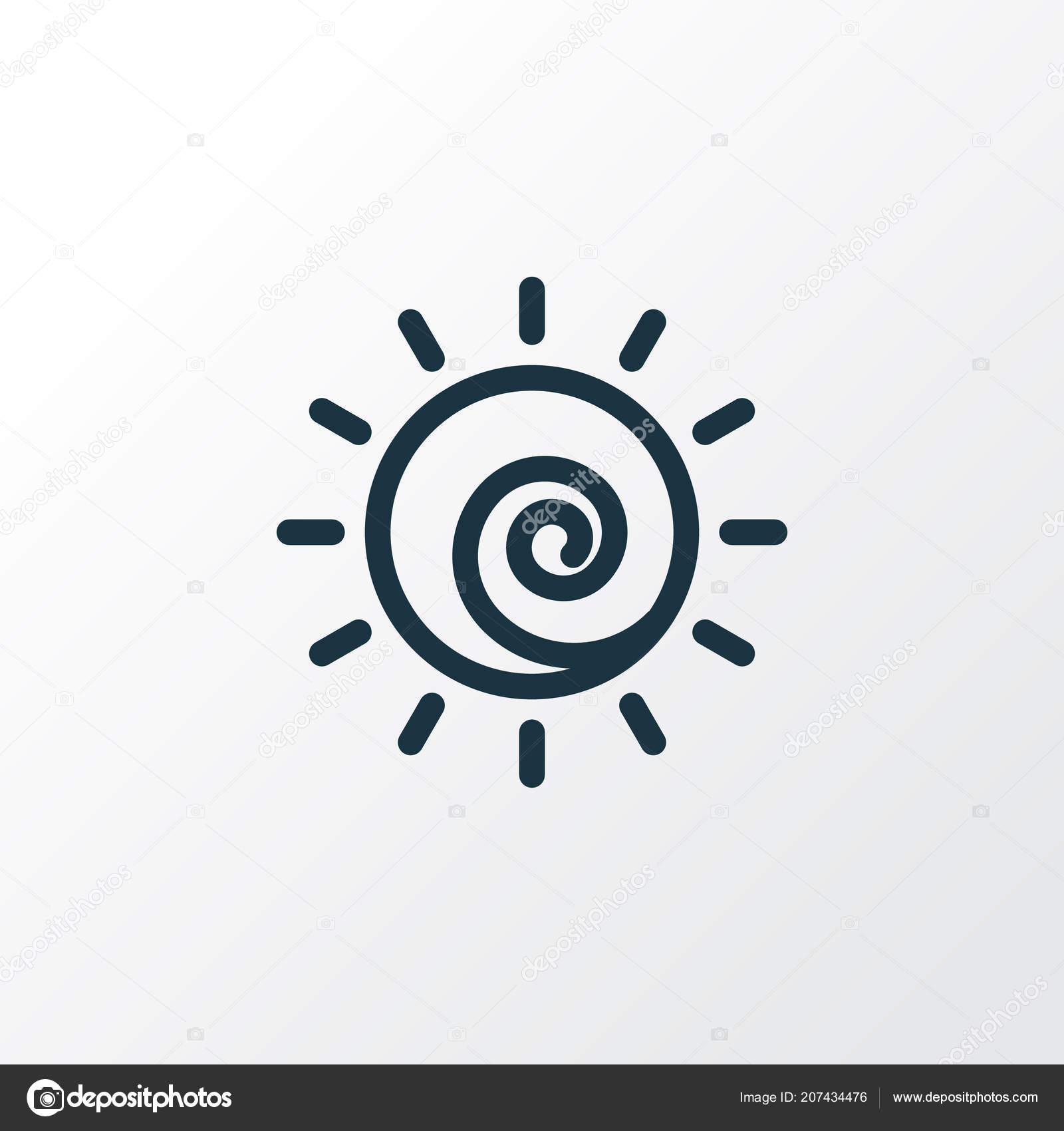 Sun icon line symbol  Premium quality isolated sunshine