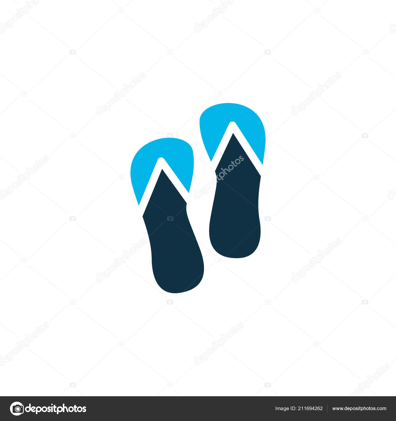 66eb005bb Flip flops icon colored symbol. Premium quality isolated beach sandal  element in trendy style. — Vector by aalbedouin.gmail.com