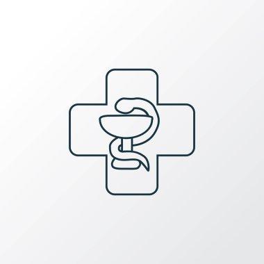 Medicine icon line symbol. Premium quality isolated pharmacy element in trendy style.