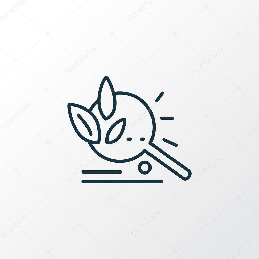 Organic search icon line symbol. Premium quality isolated magnifier element in trendy style.