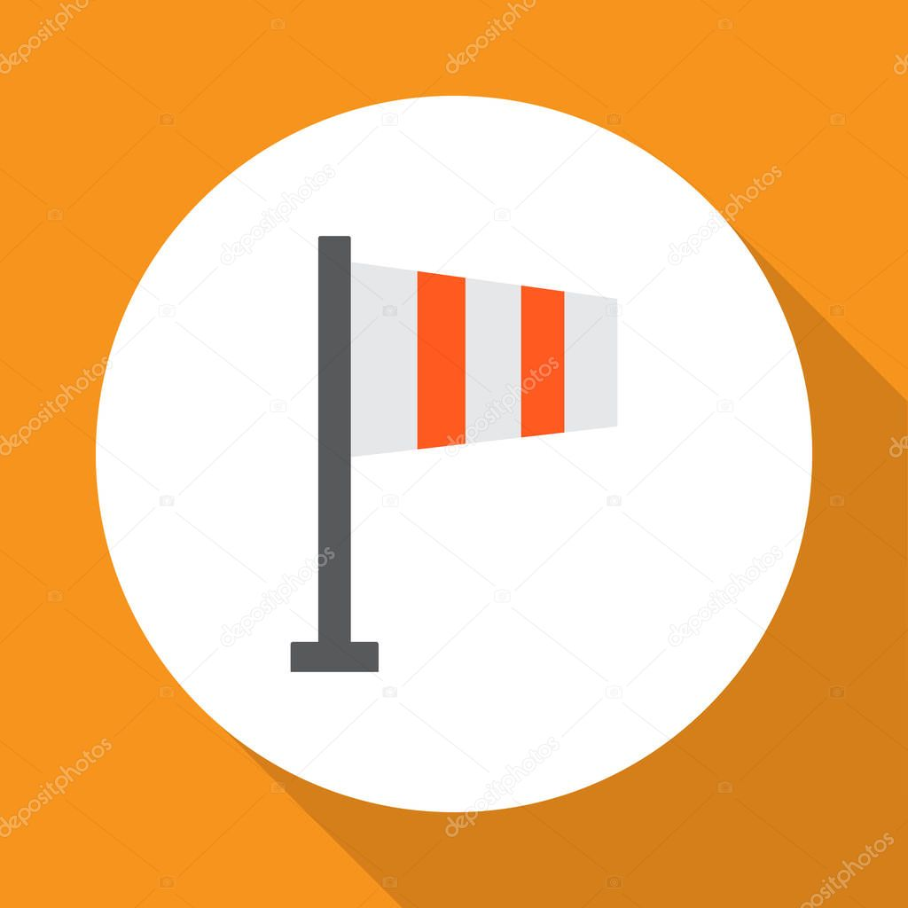 Flag icon flat symbol. Premium quality isolated banner element in trendy style.