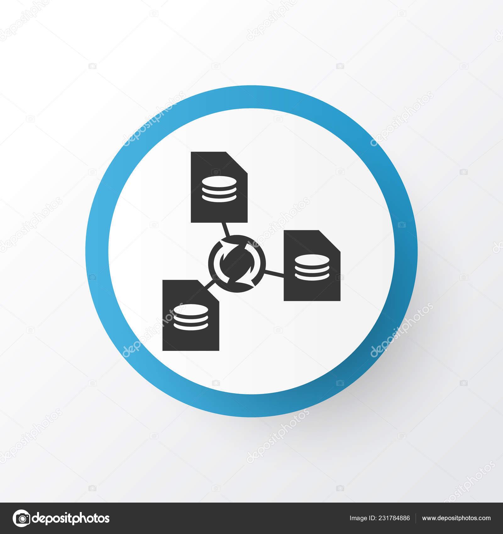 Símbolo de ícone compartilhamento de arquivo  Elemento de