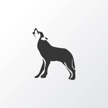 Wolf icon symbol. Premium quality isolated husky element in trendy style.