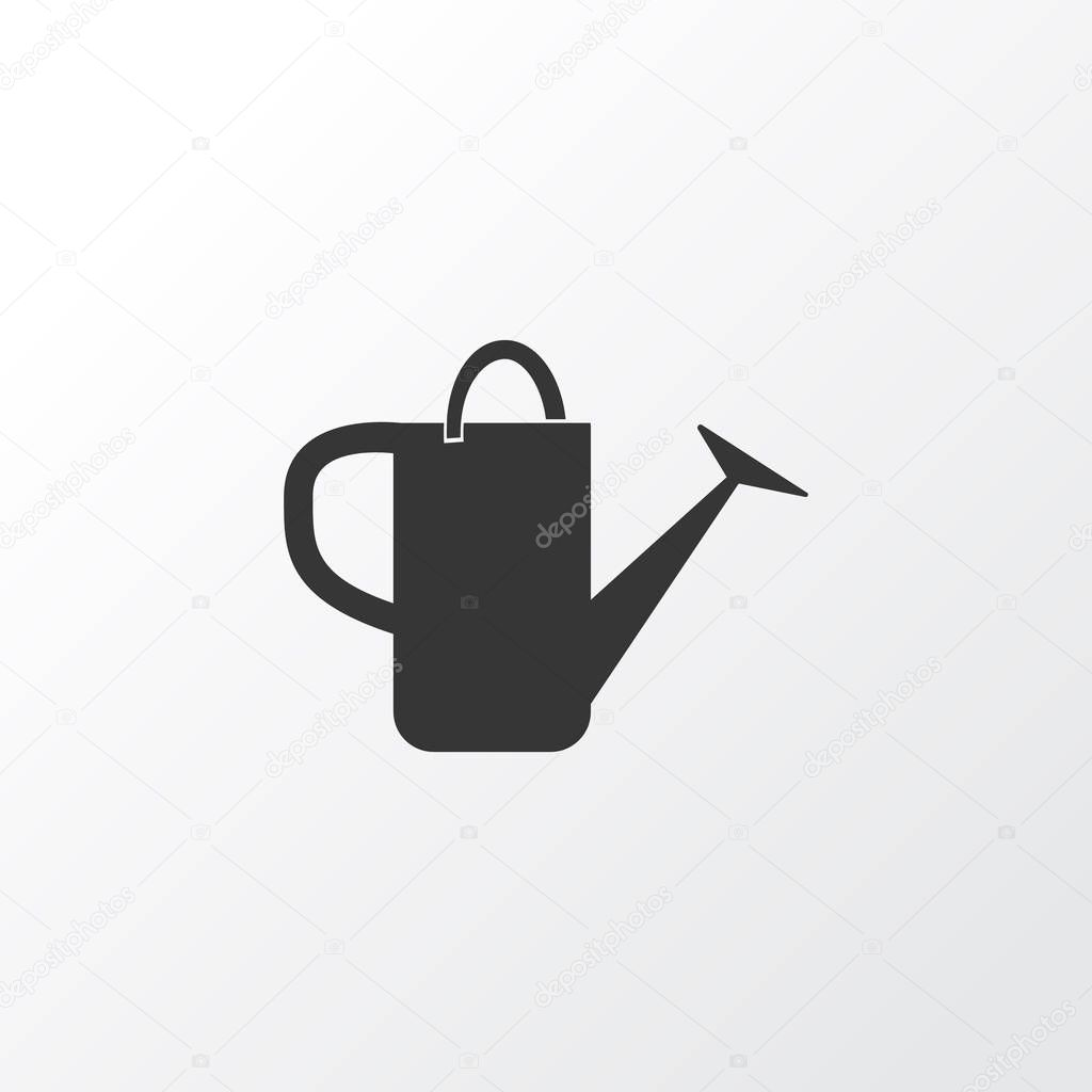 Watering can icon symbol. Premium quality isolated bailer element in trendy style.