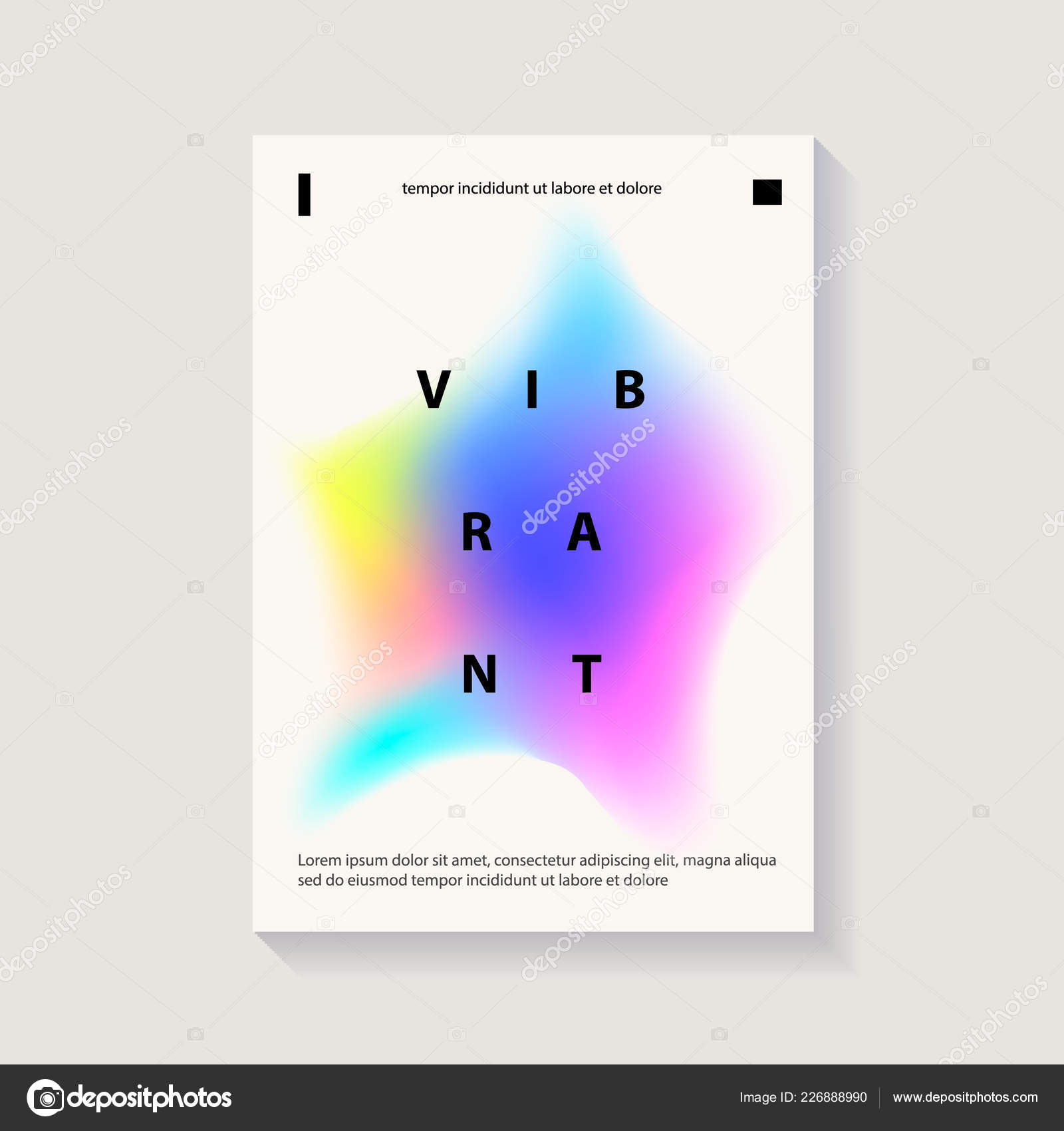 creative cover or poster design template abstract shapes with vibrant gradients modern style abstraction background vibrant gradient on white background