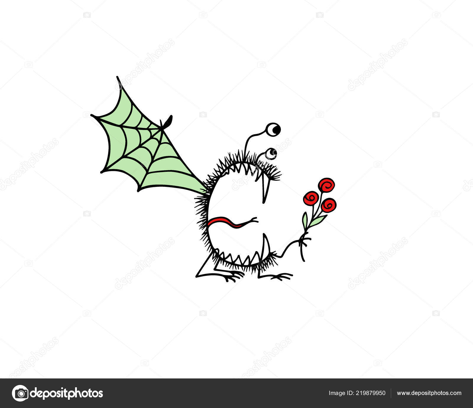 Hand Drawn Cute Monsters Stock Vector C Ezhevica 219879950