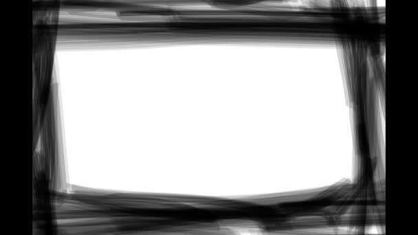fekete keret háttér. animált képkocka mozgás. videó animáció. Minimális felvétel borító design. készletfelvétel