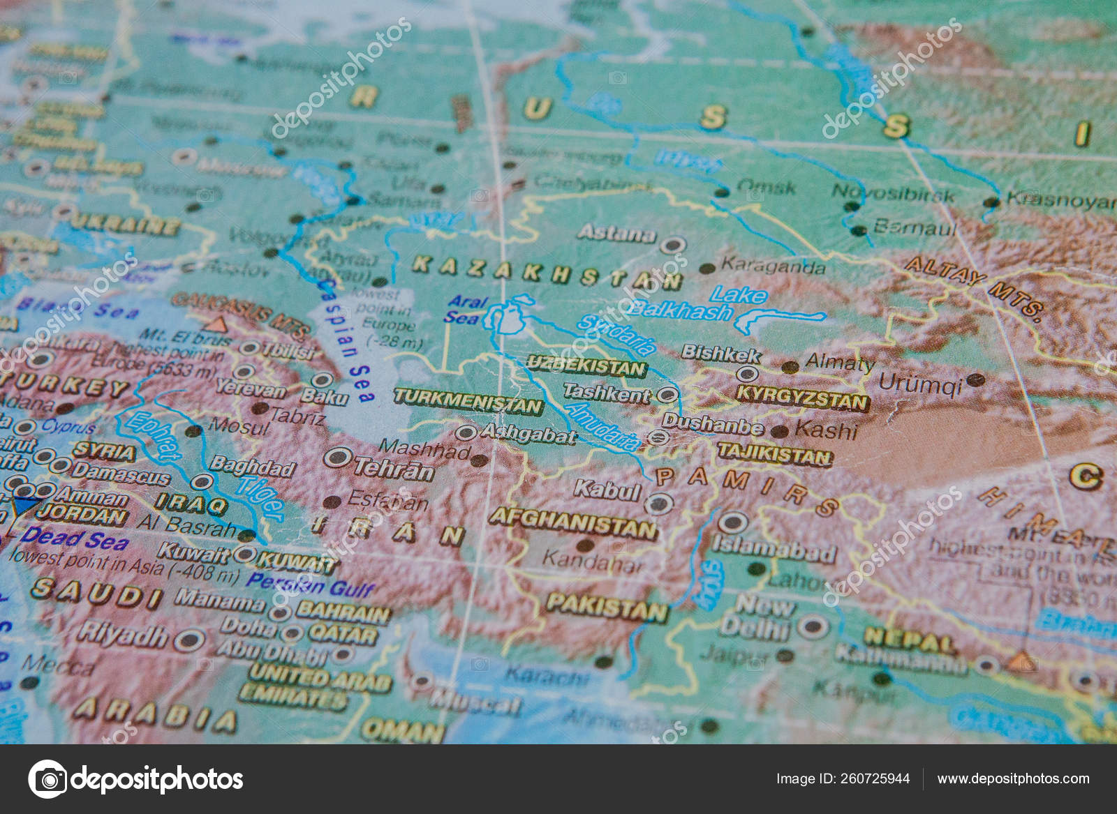 Picture of: Turkmenistan Uzbekistan Kyrgyzstan In Close Up On The Map Focus On The Name Of Country Vignetting Effect Stock Photo C Volody100 Ukr Net 260725944