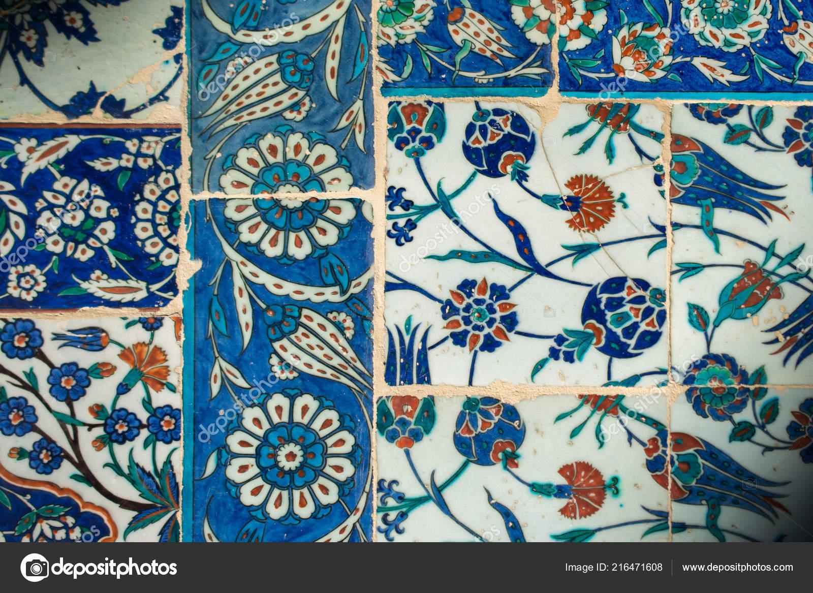 Antico turco piastrelle fatte mano tempo ottomano con motivi