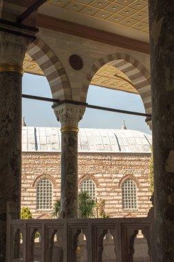 """Картина, постер, плакат, фотообои """"древние колонны времен османской империи с видом картины постеры города"""", артикул 238062238"""