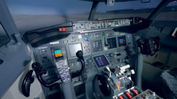 Flugzeuge Cockpitblick vom Pilotensitz