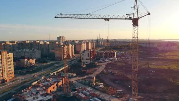 Výstavba multi-proslavený budov. Letecký pohled