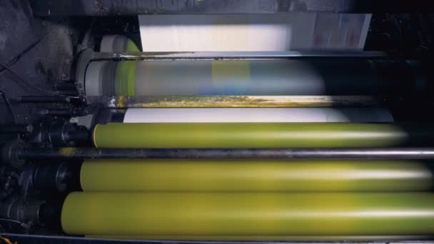 Machinery rollers, close up.