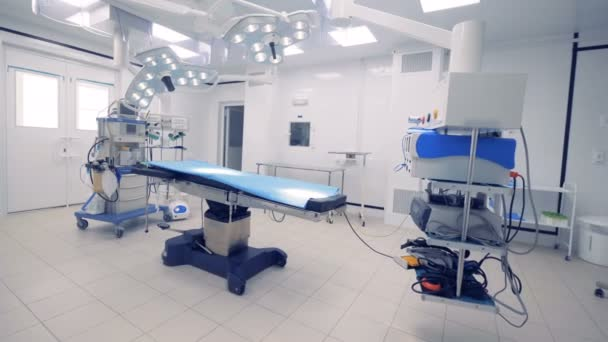 General view of a fully-equipped surgical room. Medical technology concept.