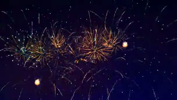 Výbuch ohňostroje na obloze
