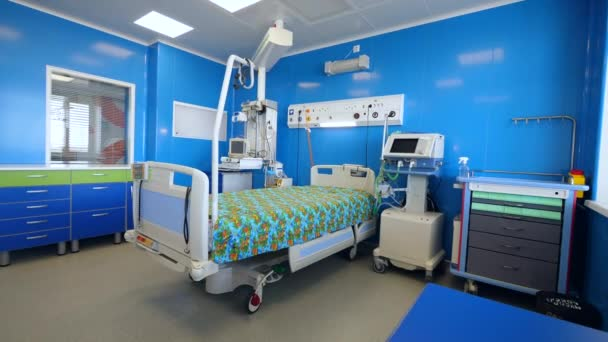 Modern infirmary with a bed and equipment
