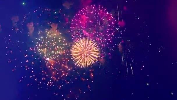 Festliche Feuerwerksexplosionen in der Nacht