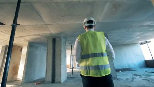 Tvůrce, architekt práce na staveništi, zavření.