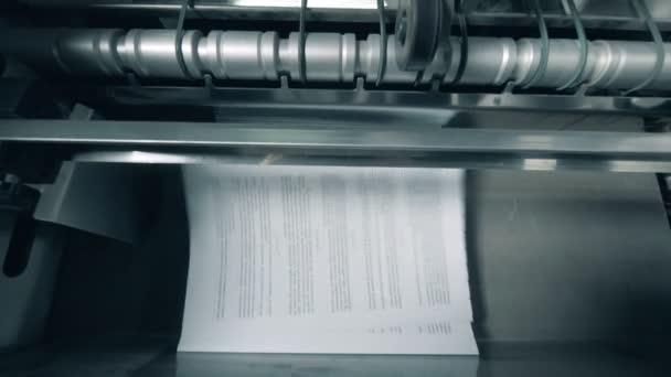 Tištěné stránky s textem navrstvené na typografické čáře.