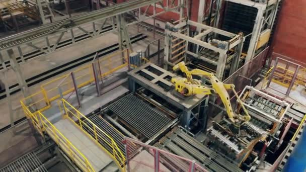 Industrial equipment with a robotic transporting complex