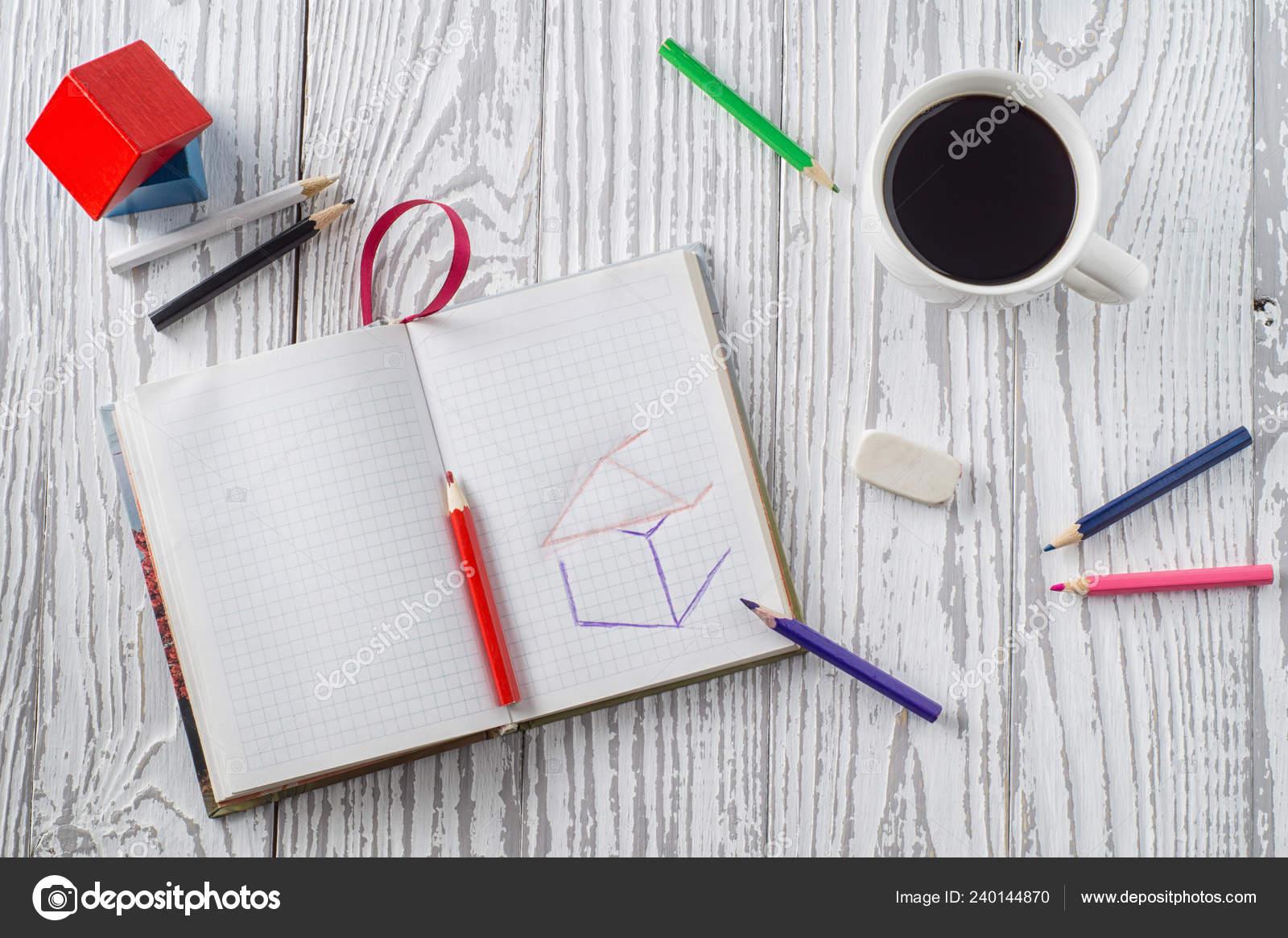 https depositphotos com 240144870 stock photo notepad pencils coffee wooden table html