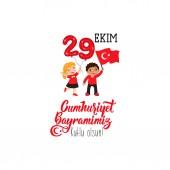 vektorové ilustrace 29 ekim republika den Turecko. Překlad: 29 říjen. Republika šťastný den. grafika pro prvky návrhu. děti logo