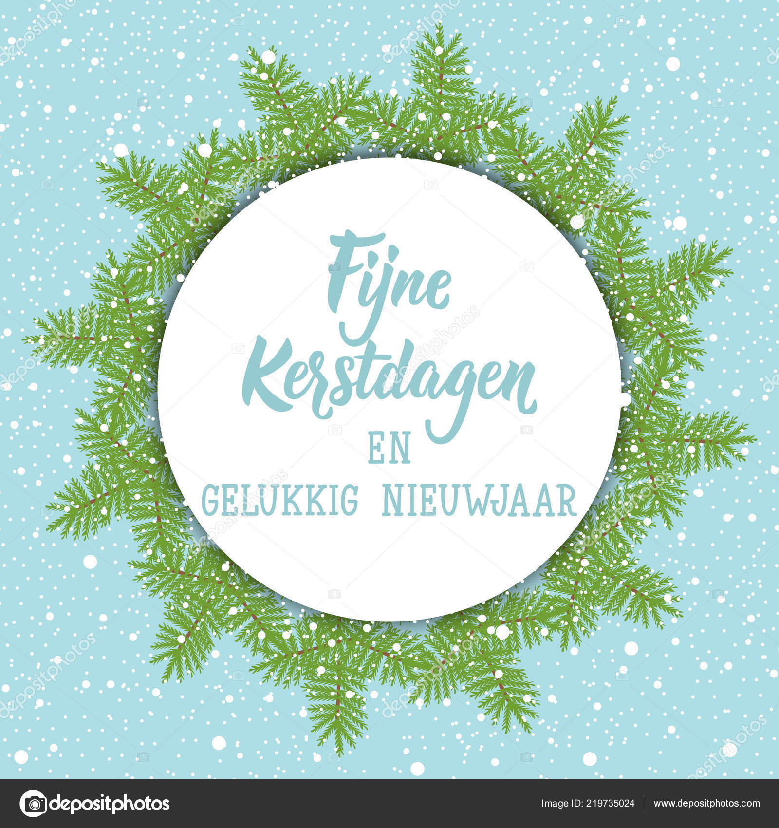 Merry Christmas In Dutch.Christmas Banner Dutch Text Merry Christmas Happy New Year