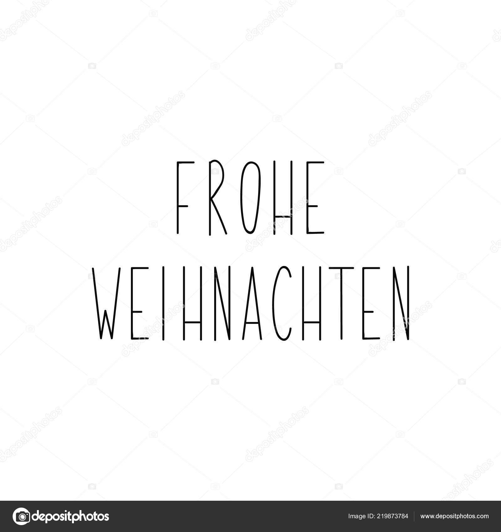 Text Frohe Weihnachten.Deutscher Text Frohe Weihnachten Schriftzug Banner