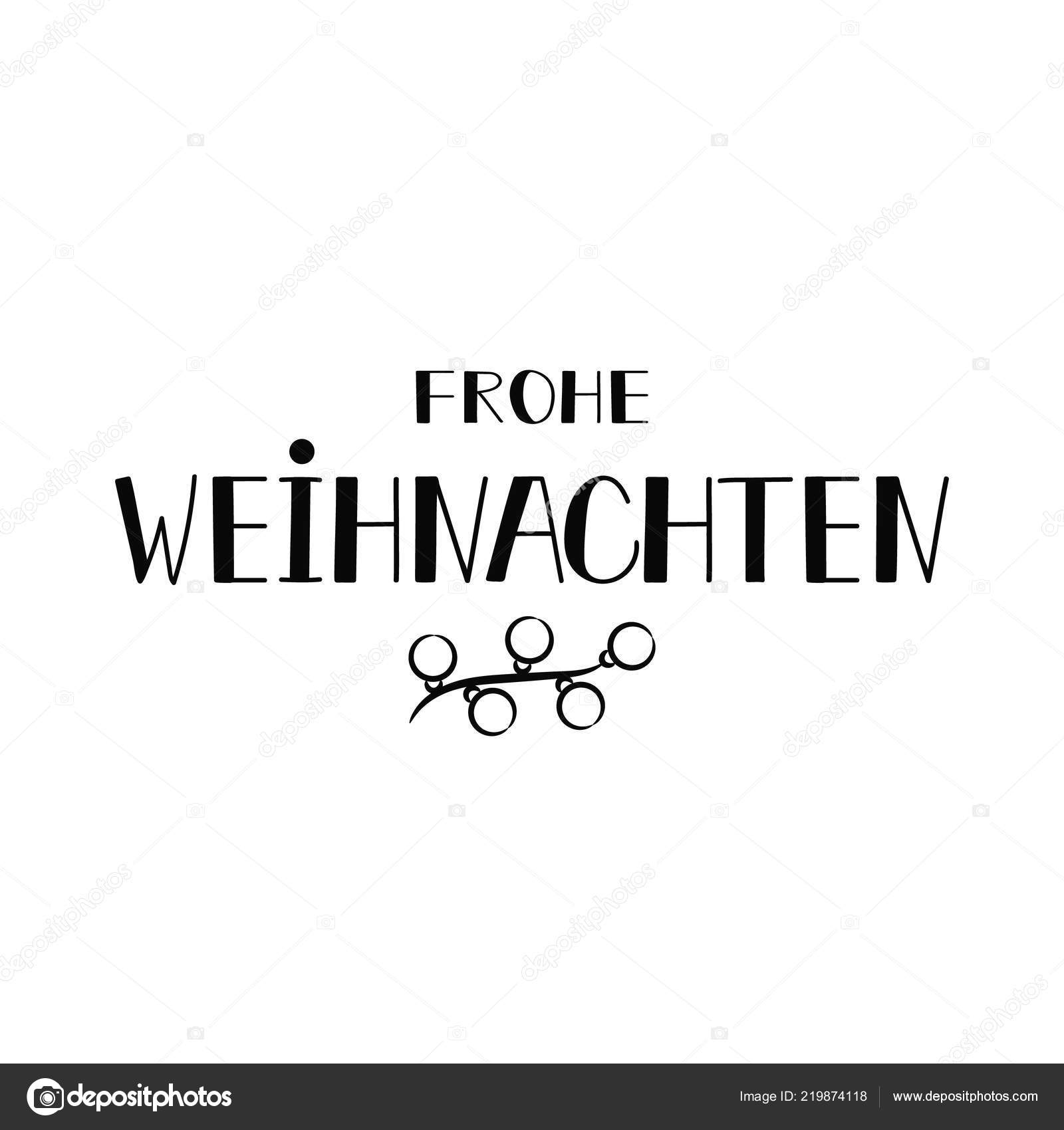 Frohe Weihnachten Text.German Text Merry Christmas Lettering Banner Calligraphy