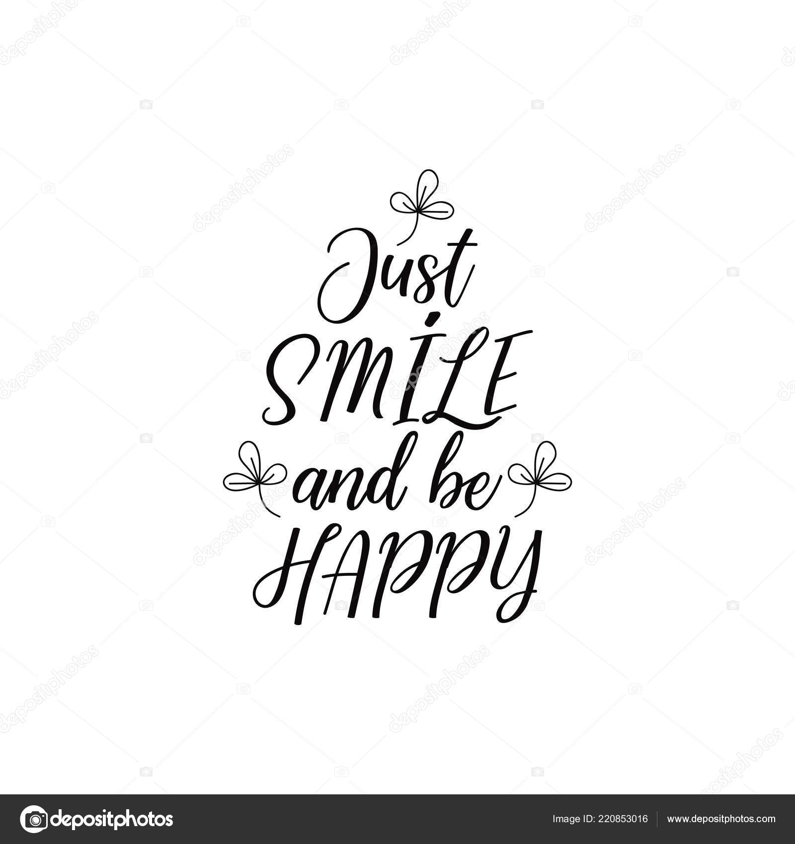 funny happy birthday pic quotes just smile happy lettering