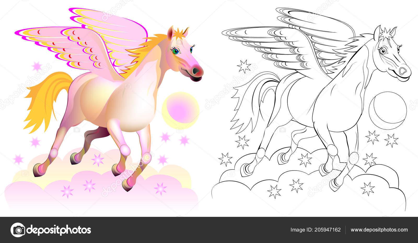 Patrón Colores Blanco Negro Para Colorear Ilustración Fantasía Lindo