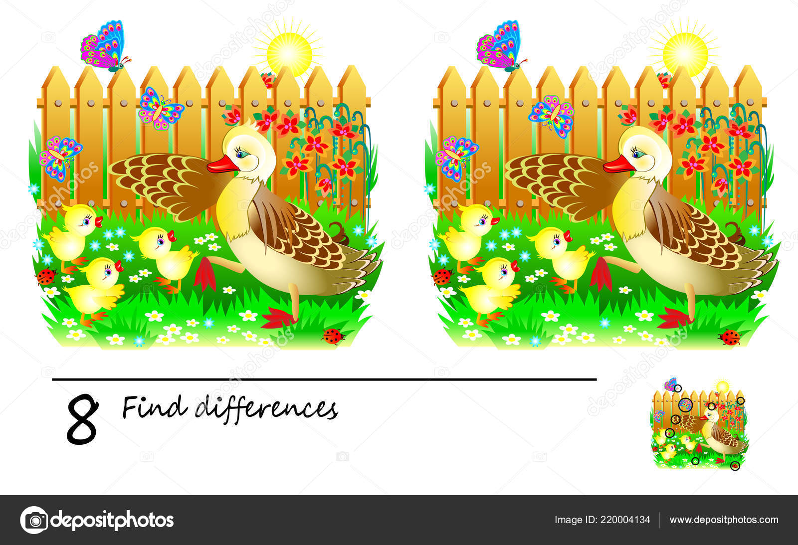 Logic Puzzle Game Children Adults Need Find Differences Developing