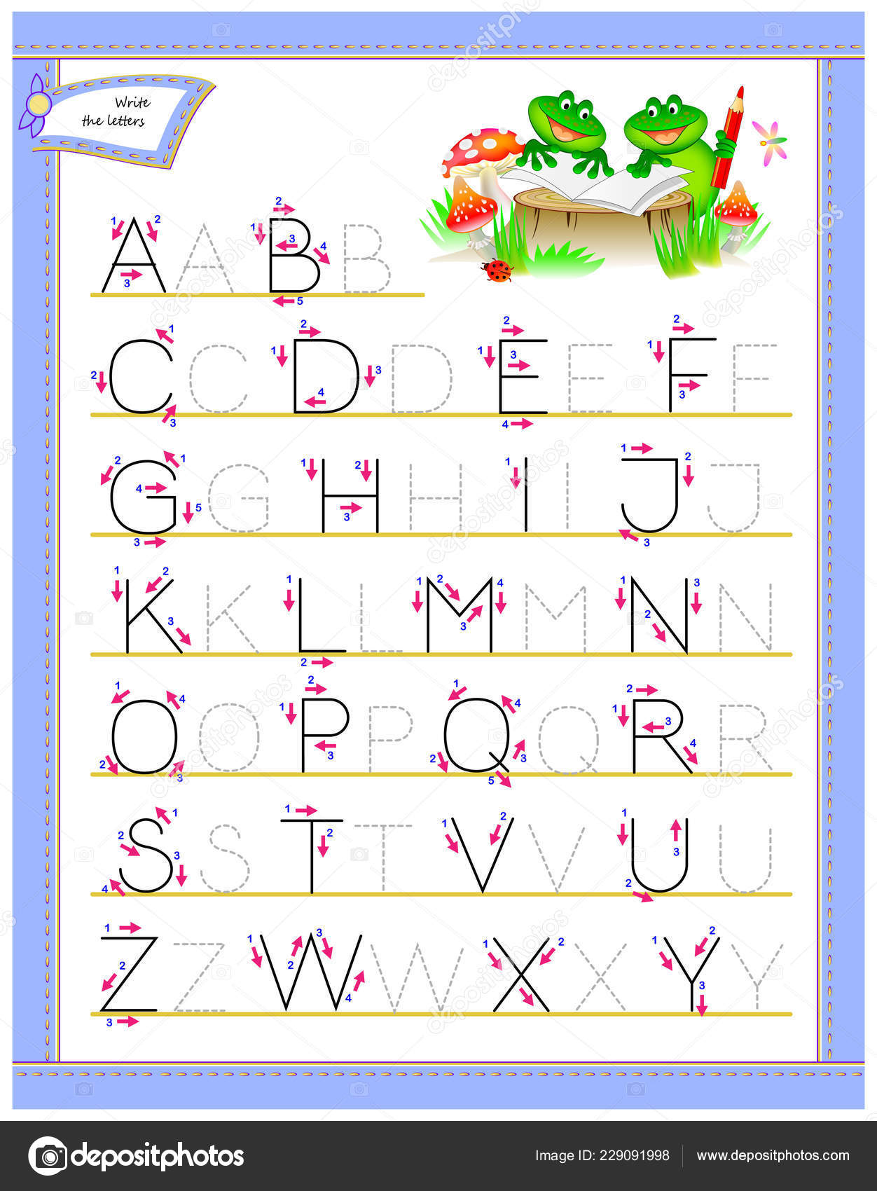 picture regarding Tracing Alphabet Printable named Tracing Abc Letters Investigation English Alphabet Worksheet Little ones
