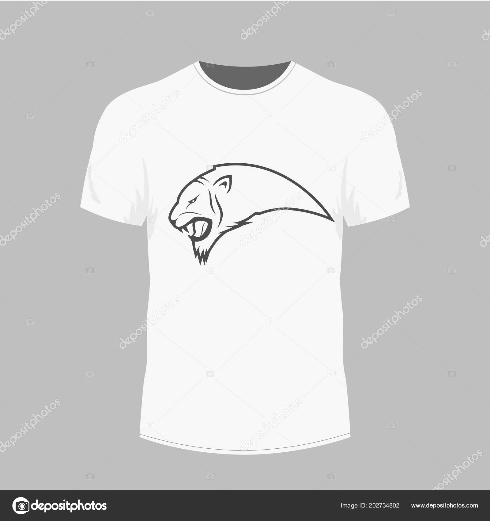 d73d78c18 stock illustration. Mens white t-shirt with short sleeve in front view. — Stock  Vector